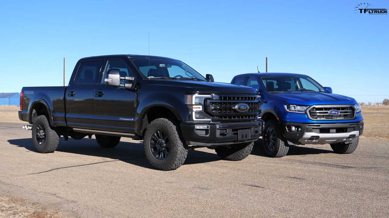Ford Ranger Drag Races Super Duty Tremor Because Why Not?